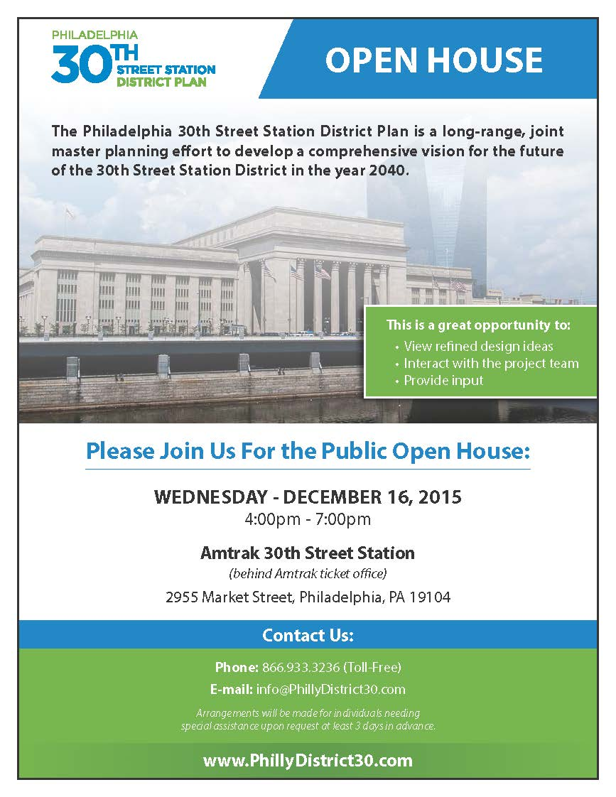 30th Street Open House Flyer