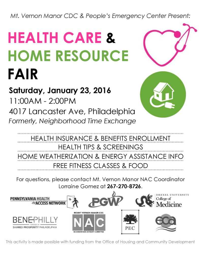 Health Care and Home Resource Fair Flyer