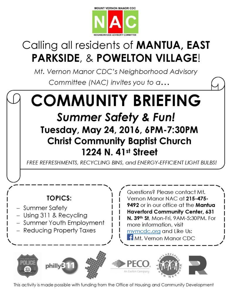 MVM May SA Briefing Flyer