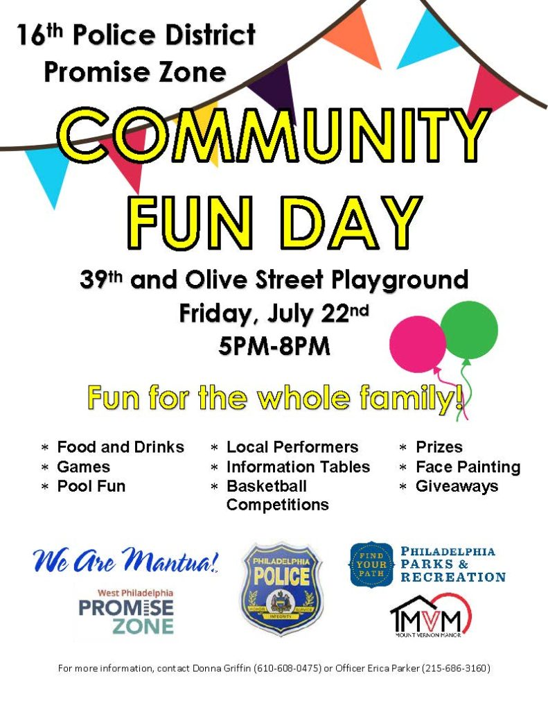 16th PD PZ Community Fun Day Flyer FULL SIZE