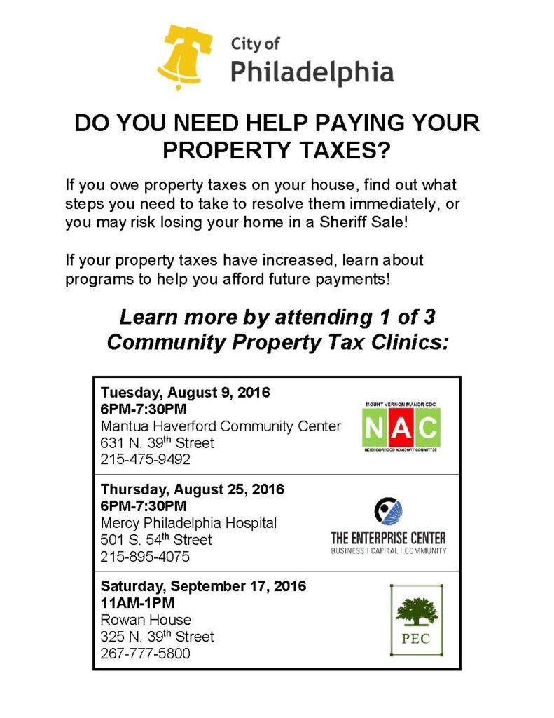PZ Property Tax Clinic Flyer FINAL