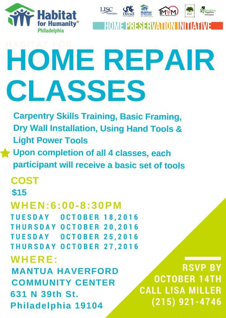 flyer-home-repair-classes-9-21-16
