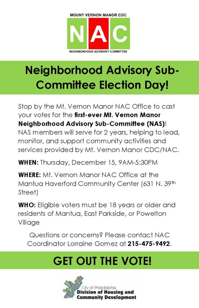 MVM NAS Election Day Flyer