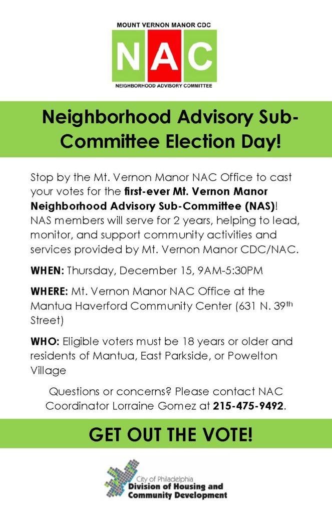 MVM NAS Election Day Flyer